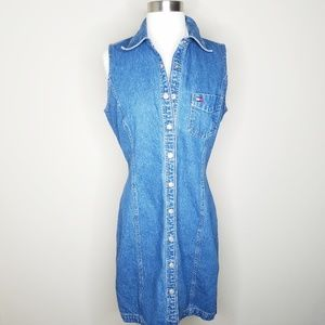 Tommy Hilfiger vintage denim sleeveless dress